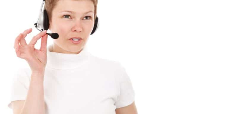 Woman taking a business call