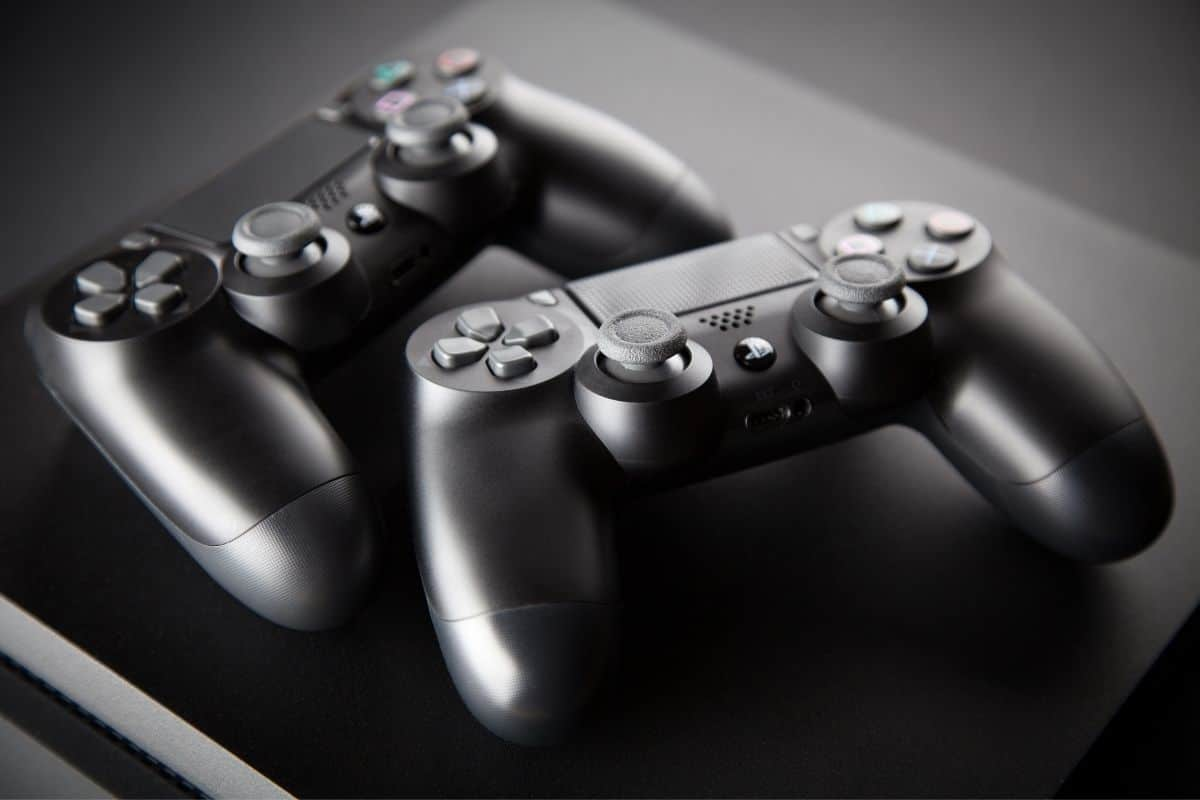 Two playstation controllers