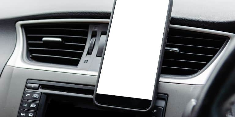Phone attached to the car