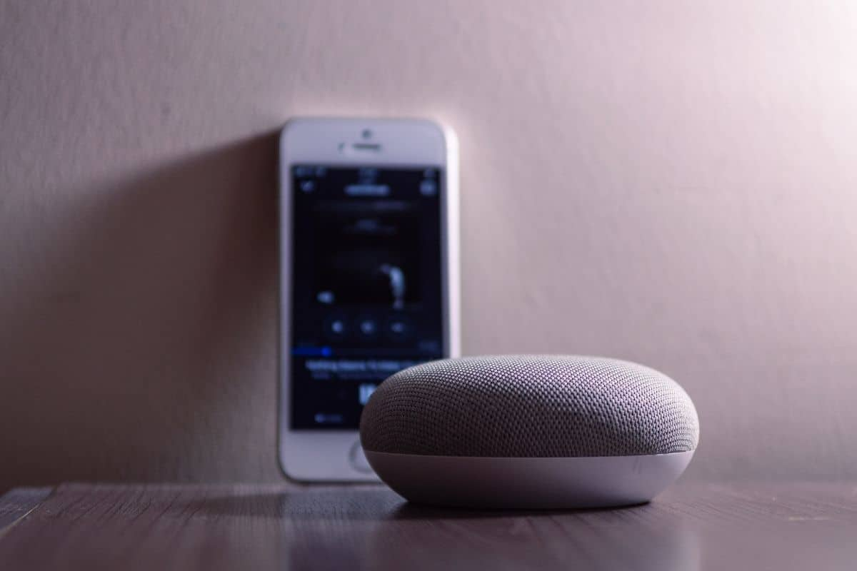 Google Home and a smart phone