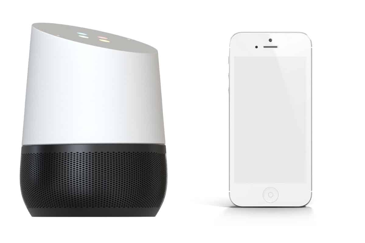 Google Home and a Smartphone